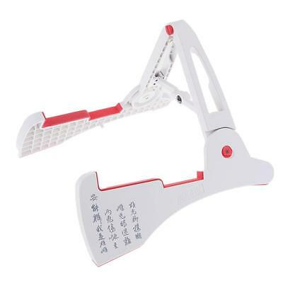 Foldable A Frame Guitar Stand Support for Guitars Basses Parts White