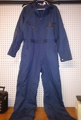 Dickies Mens Coveralls Long Sleeve Cotton Poplin Navy Size Chest 42 Long