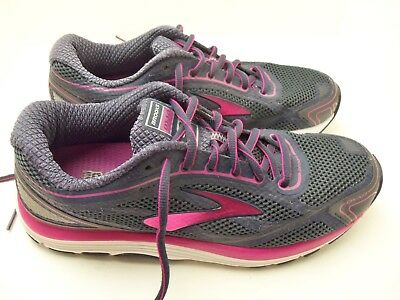63159b12a174a BROOKS DYAD 9 Womens Size 8.5 Running Shoes Dark Gray Fuchsia ...
