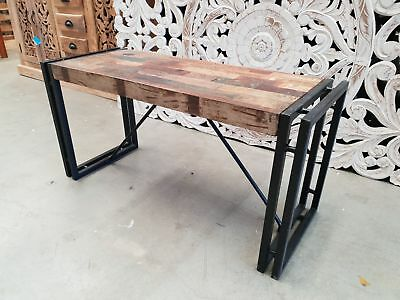 BARN solid reclaimed wood Industrial Dining 90cm bench garden seat coffee table