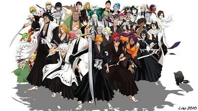 "156 Bleach - Dead Rukia Ichigo Fight Japan Anime 24""x14"" Poster"