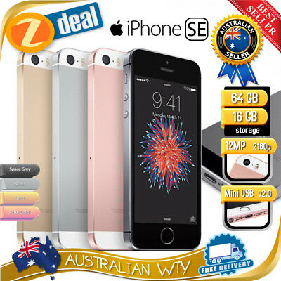 APPLE iPHONE SE 16GB 64GB 128GB FACTORY UNLOCKED (AU STOCK, 100% GENUINE APPLE)