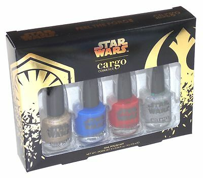 Star Wars Nail Polish 4 Piece Kit Cargo Cosmetics Collector Limited Edition Set