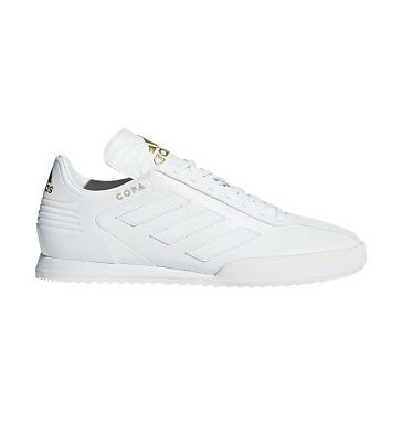 77c0361f836 ADIDAS COPA SUPER Leather White Gold Indoor Soccer Shoes ( DB1880 ...