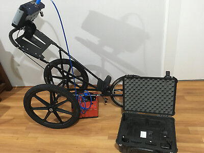 Ground Penetrating Radar Gpr Gssi Complete With Cart Locating Concrete