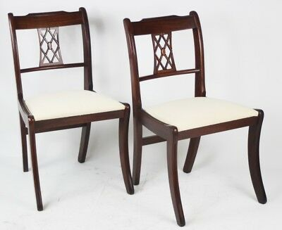 Pai of Antique Sheraton Style Mahogany Dining Chairs - FREE Shipping [PL4345A]