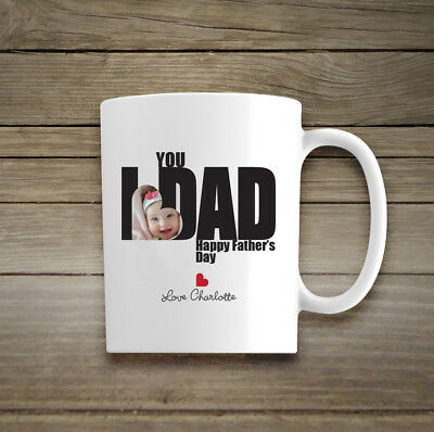 Personalised Photo Ceramic Mug Gift His Hers Cup Fathers Day Birthday Christmas