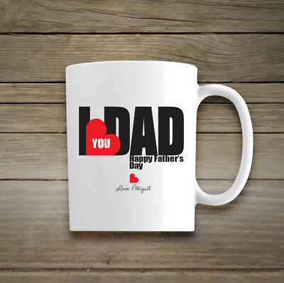 Personalised Name Ceramic Mug Gift His Hers Cup Fathers Day Birthday Christmas