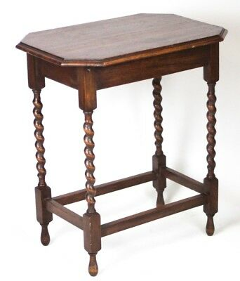 Antique English Oak Barley Twist Occasional Table - FREE Shipping [PL4342]