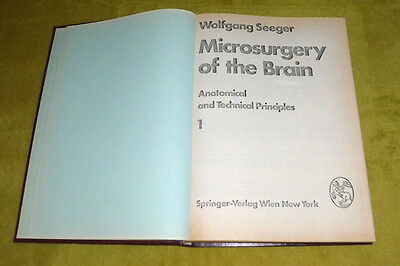 Microsurgery of the Brain by Wolfgang Seeger Vol 1-2