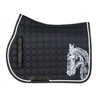 Equiline Holly Octagone Saddle Cloth - black - Schabracke