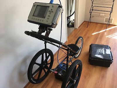 Ground Penetrating Radar Gpr Gssi With Cart Locating Antenna Geophysical