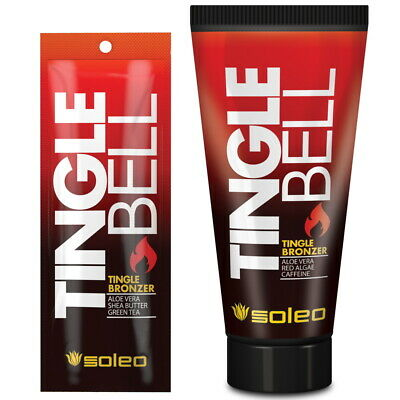 Soleo Tingle Bell Tingle Bronzer sunbed tanning lotion cream bottle or sachet