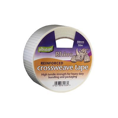 Rhino Reinforced Crossweave Tape Packing Bundling Office DIY Home Repair Strong