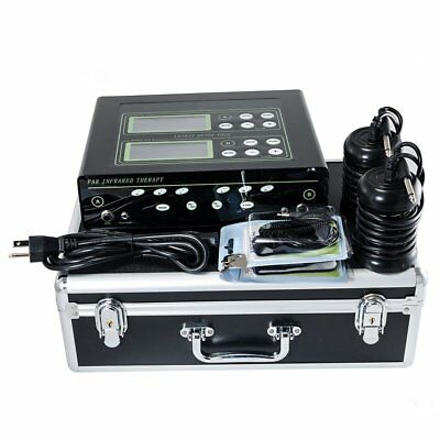 Dual LCD Detox Machine Cell Ion Ionic Foot Bath SPA CHI FIR Belt with 2 Arrays