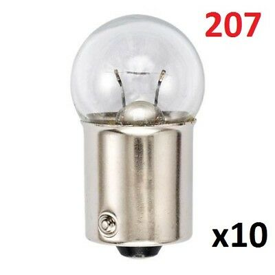 10 No Pack of Sidelight Auto Bulbs 207 12V 5W BA15S Tail Light Car SCC Bulb