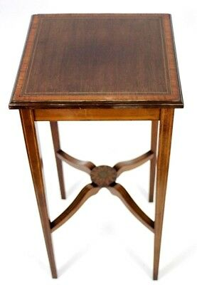 Antique Mahogany Marquetry Inlaid Occasional Table - FREE Shipping [PL4343]
