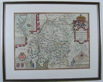 Westmorland: antique map by John Speed, 1614 or 1627