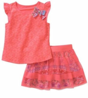 NWT Faded Glory Girls Tulle SO CUTE 2 PIECE Set Size 10-12 SKIRT SHORTS