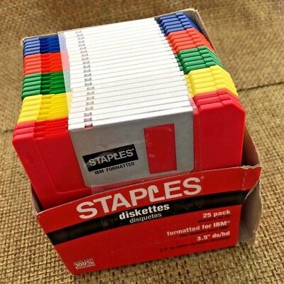 Staples 3.5 inch Floppy Disk Diskettes 23 pack