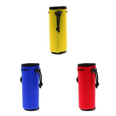 3pcs Portable Neoprene Water Bottle Cooler Carrier Cover Sleeve Bag 175mm