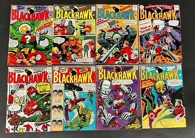 Blackhawk 1965 Lot Of 13 Books All 12 Centers #211 To 214,#218 To 221 #223 - 226