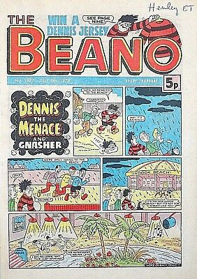 BEANO - 8th JULY 1978 (6th - 12th July) - RARE 40th BIRTHDAY GIFT !! VG+..beezer