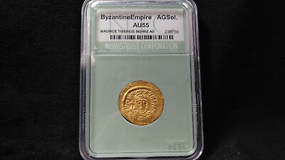 582-602AD Maurice Tiberius Byzantine Empire **GORGEOUS ANCIENT GOLD COIN**