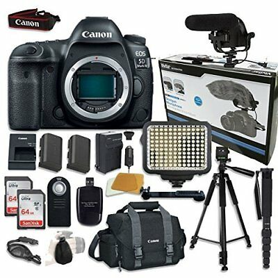 Canon EOS 5D Mark IV Digital SLR Camera Bundle (Body Only) + (14 items)