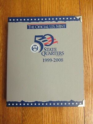 Complete 1999-2008 State Quarters P&D Set – 100 Coins in Official U.S.Mint Album