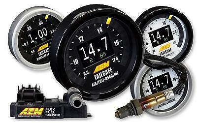 AEM 52mm Universal Flex Fuel Wideband Failsafe Gauge & Flex Fuel Sensor #30-4911