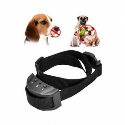 NO Bark Dog Training Collar Sound Shock Stop Barking Rechargeable -FAST DISPATCH