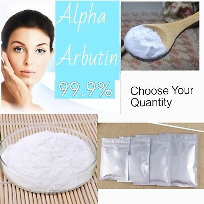 Pure Alpha Arbutin 99% Powder Skin Whitening Lightener - mix with serum, lotion,