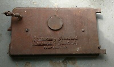 Reclaimed Vintage Antique American Radiator Sanitary Cast Iron Boiler Door