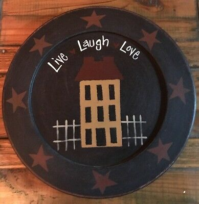 PRIMITIVE DECOR PLATE By Barbara Lloyd Comes With Plate Holder ...