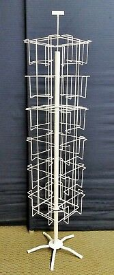 New 24 Pocket Floor Spinner Wire Display Rack with box