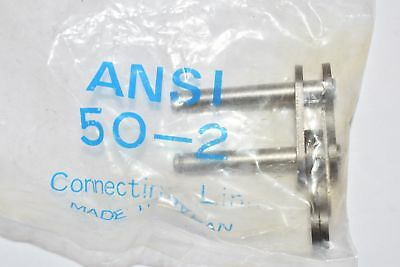 Lot of 7 NEW ANSI 50-2 Roller Chain Connecting Link JAPAN