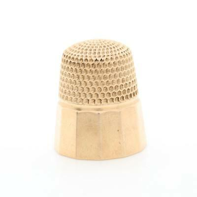 Vintage Monogrammed 1920 14K Yellow Gold Sewing Thimble 4.8 Grams