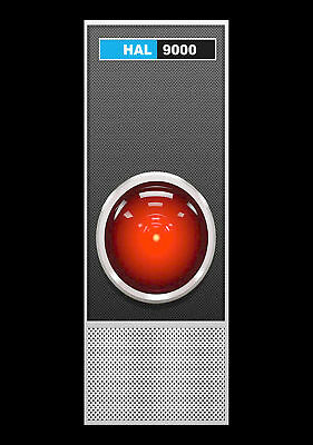 """7"""" x 10"""" Metal Sign - 1968 HAL 9000 of 2001 Space Odyssey"""
