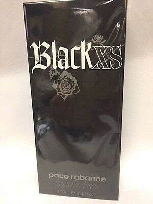 Black XS  by Paco Rabanne AFTER SHAVE  Lotion for Men 3.4 OZ / 100 ML
