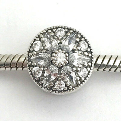 Authentic Pandora Radiant Bloom, Sterling Silver & Clear CZ Charm, 791762CZ, New