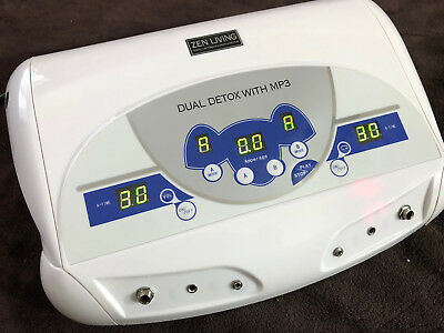 Zen Living Spa DUAL CHI IONIC ION DETOX MACHINE FOOT BATH SPA MP3 Player