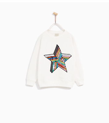 NWT Zara Multicolor star sweatershirt XS S Zara girl