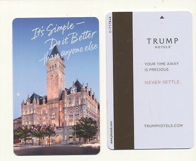new type--glossy front--TRUMP  HOTEL--Las Vegas,NV----never swiped--Room key