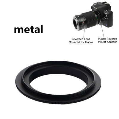 Black Metal 52mm Macro Lens Mount Reverse Ring Adapter For Canon EOS EF/-SCamera