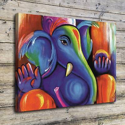 SR100549-Ganesha Home Decor Room HD Canvas Print Picture Wall Art Painting