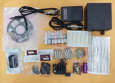 Professional Tattoo Kit with 1 Tattoo Gun & 7 Color Ink