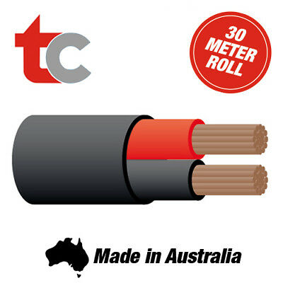 Tycab Twin Sheath 3mm Trailer/Caravan/Automotive 30m Twin Core Wiring Cable