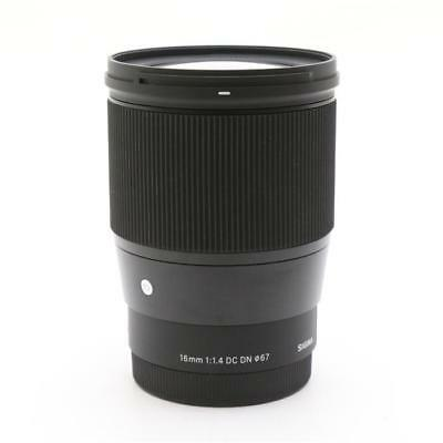 NEW Sigma 16mm F1.4 DC DN (16 mm F/1.4) Fixed Zoom Lens for Sony E-mount*Offer