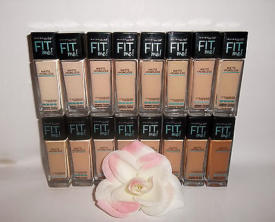 New Maybelline Fit Me Matte + Poreless Foundation New Shades Choose Shade